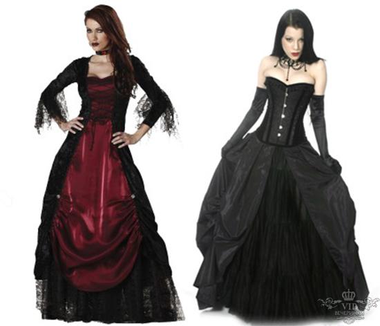 платья и наряды в Готическом стиле.