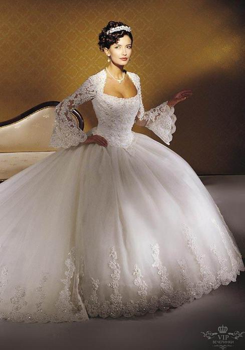 Wedding Saloon :: Красивые свадебные платья с рукавами - Свадебные